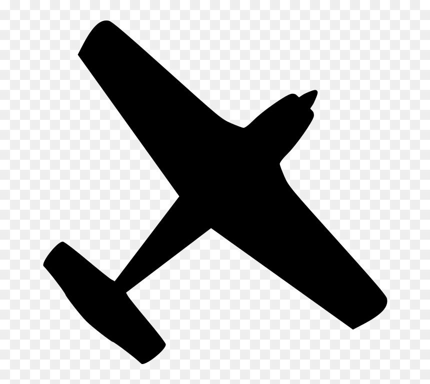 Airplane Ga Black Aircraft Clipart Hd Png Download Vhv