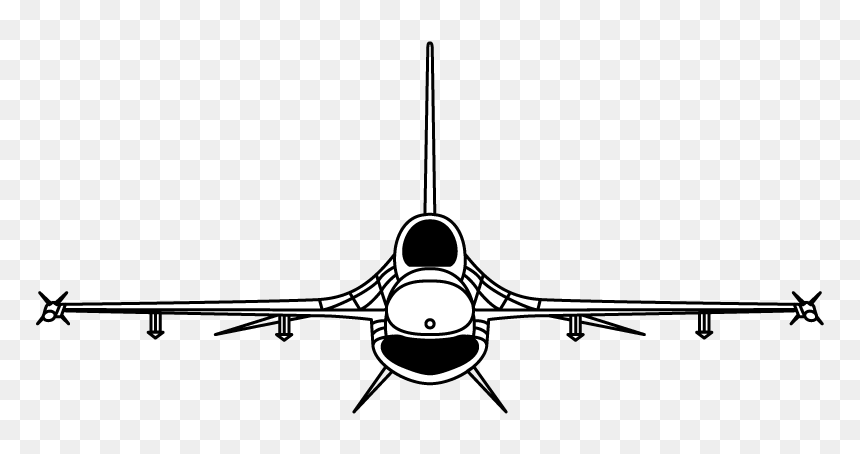 F 16 Silhouette Hd Png Download Vhv