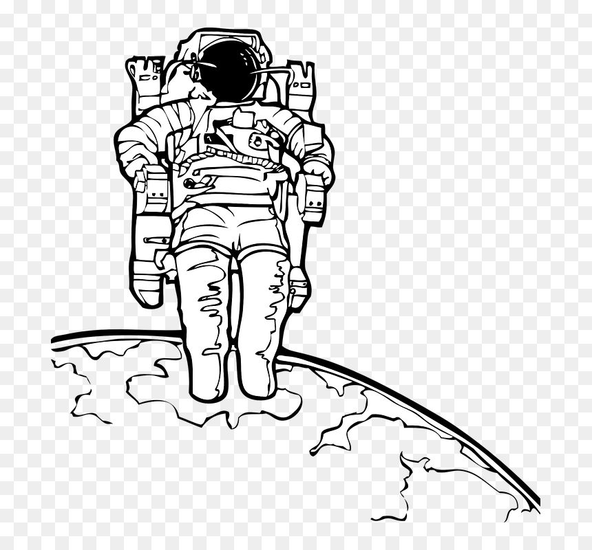 Spaceman Coloring in 2020 | Space coloring pages, Coloring pages ... | 800x860