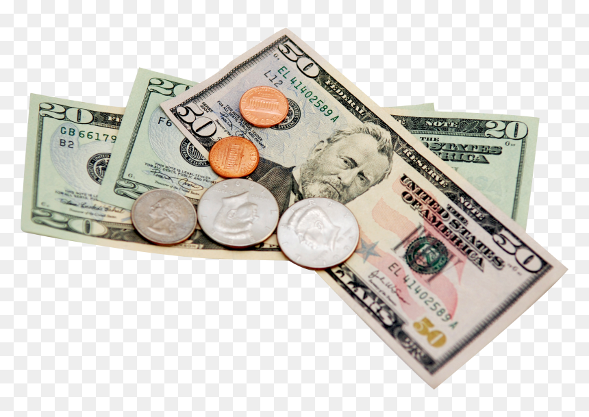 Money Png Image Paper Money And Coins Transparent Png Vhv