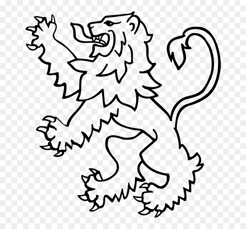 Heraldic Lion Rampant Svg Rampant Lion Line Drawing Hd Png Download Vhv Get yours from +1,000 possibilities. rampant lion line drawing hd png