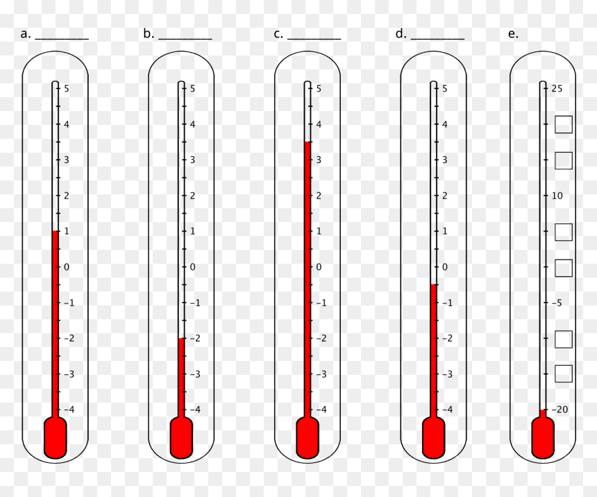 Thermometer Clip Art for Math