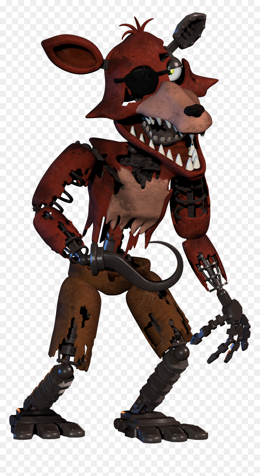 If Scott Cawthon Completed Withered Foxy In Help Wanted Fnaf Vr Withered Foxy Hd Png Download Vhv