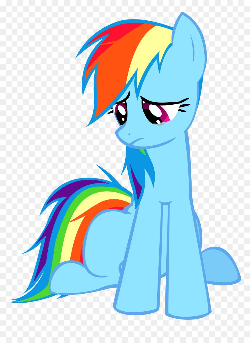 My Little Pony Rainbow Dash Sad Hd Png Download Vhv