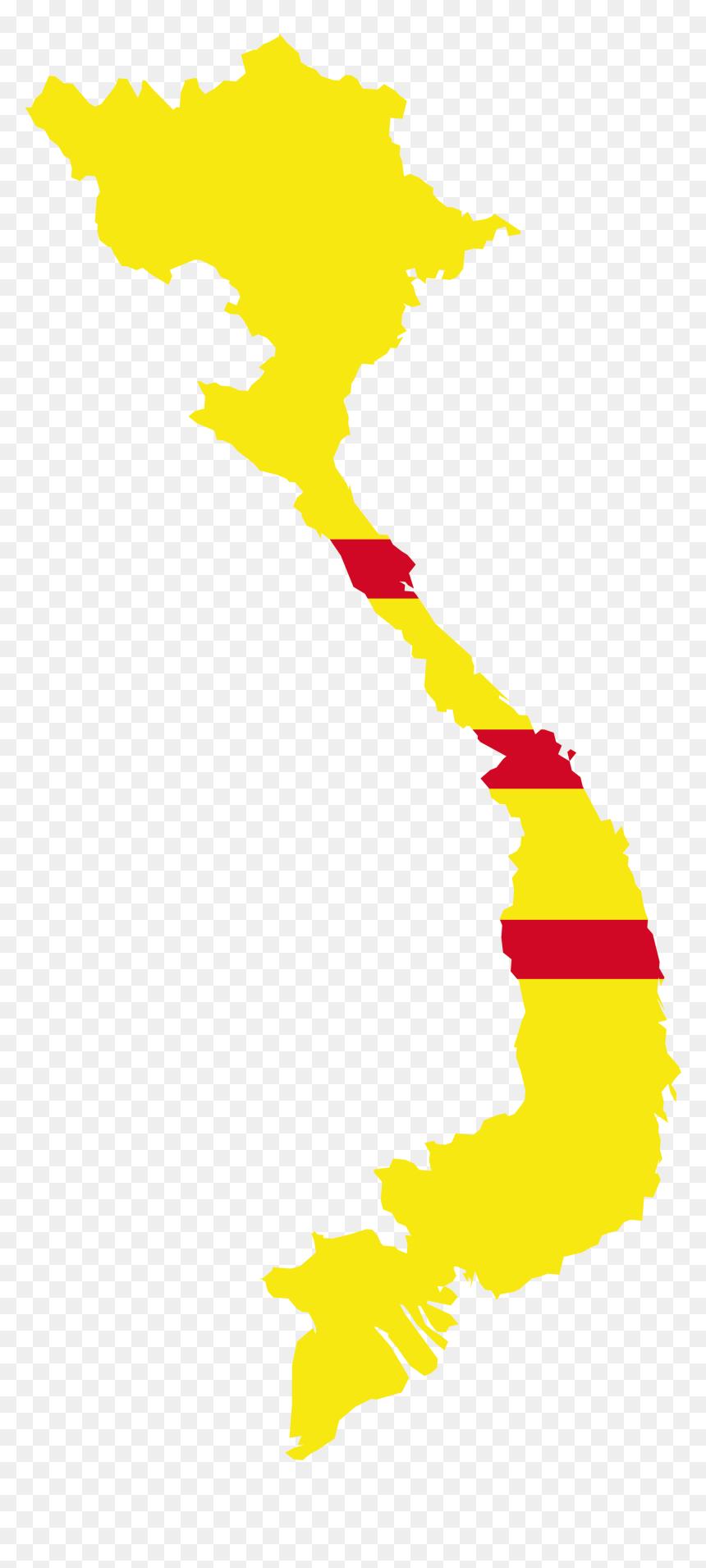 South Vietnam Flag Map Png Download Map Flag Of Vietnam Transparent Png Vhv