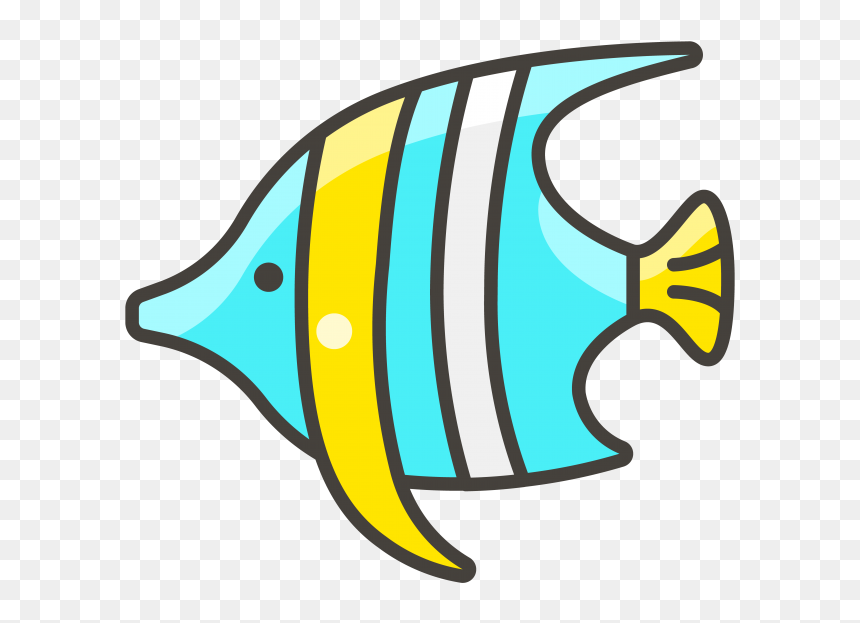 Tropical Fish Emoji Icon Cute Tropical Fish Cartoon Hd Png Download Vhv