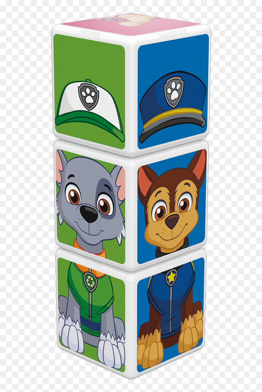 Magicube Geomag Paw Patrol Chase Skye Rocky 077 Model Chase Paw Patrol Hd Png Download Vhv