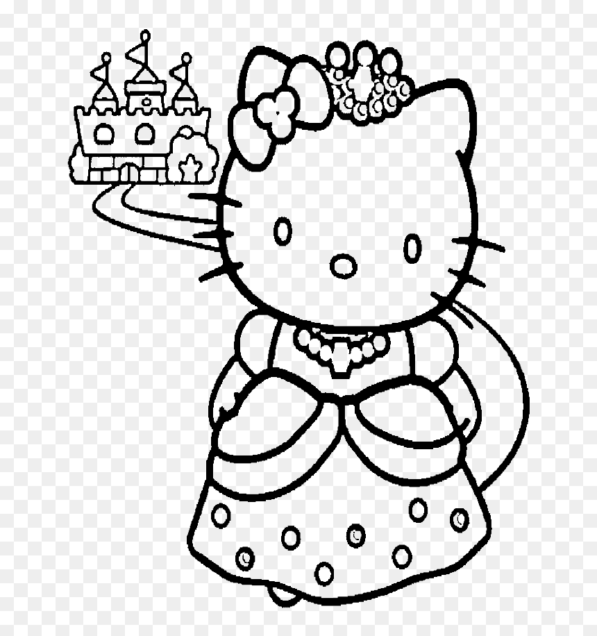 Hello Kitty Coloring Pages Transparent Background Princess Castel Coloring Pages Hd Png Download Vhv