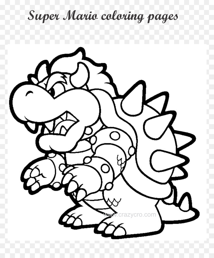 Free Printable Mario Coloring Page Hd Png Download Vhv