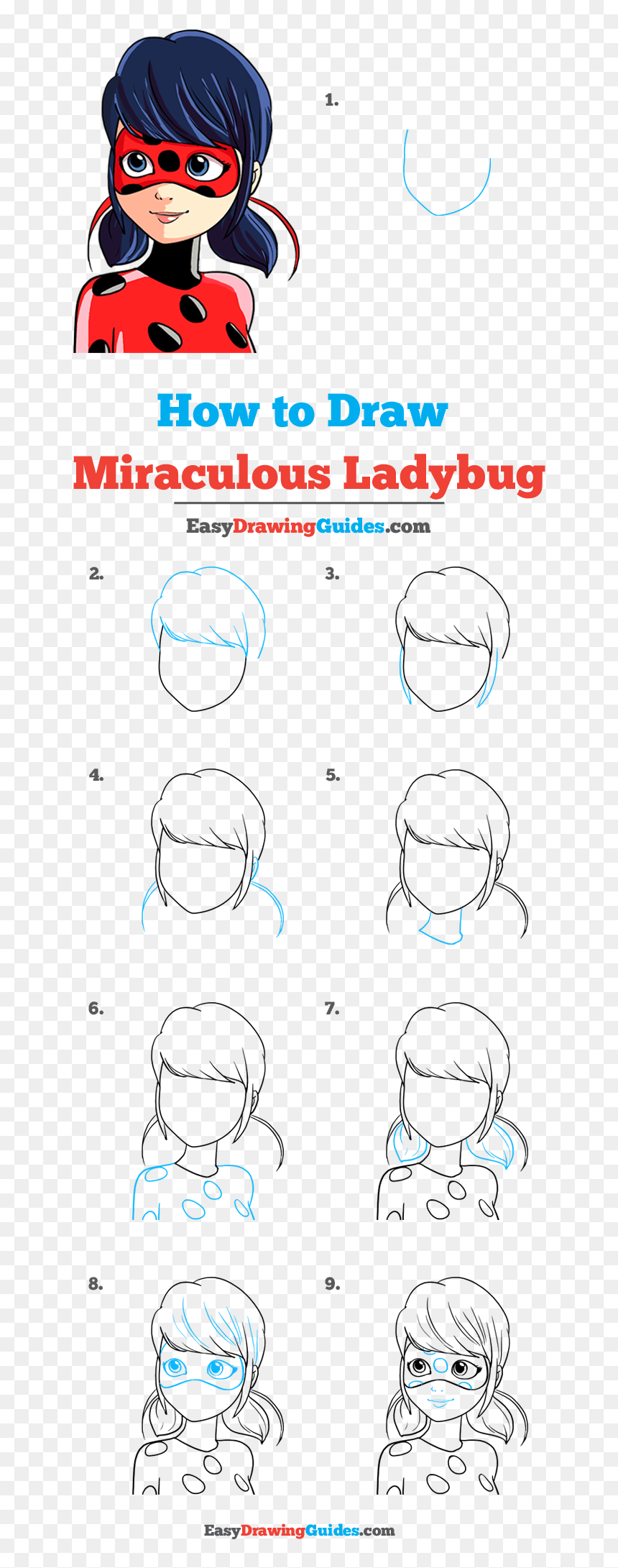 How To Draw Miraculous Ladybug Step By Step How To Draw Bonnie Hd Png Download Vhv