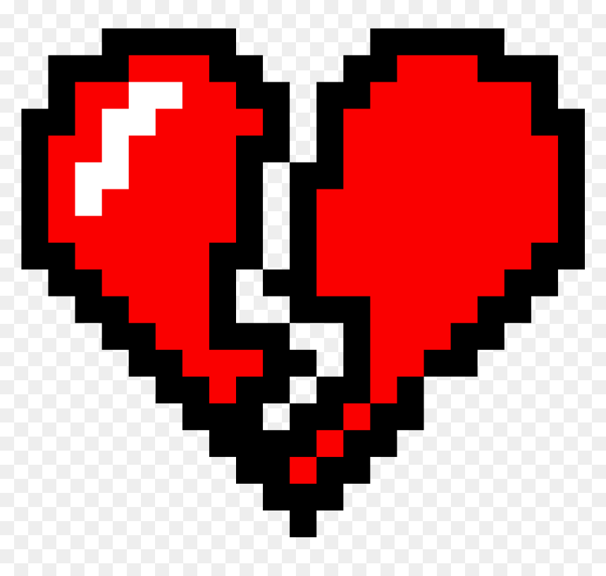 Black Heart Pixel Art Clipart Png Download Minecraft Broken Heart Pixel Art Transparent Png Vhv