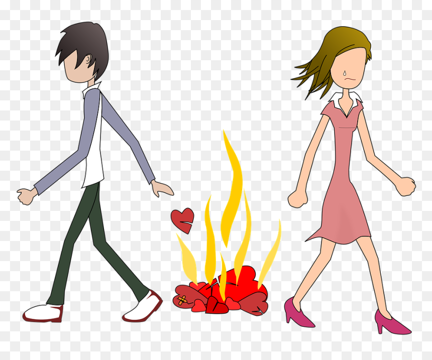 Love Break Up Cartoon Hd Png Download Vhv