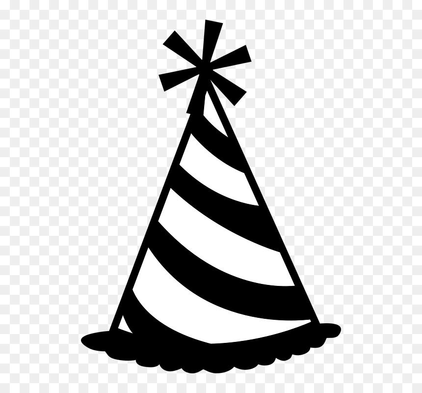 Birthday Hat Clipart Black And White Hd Png Download Vhv