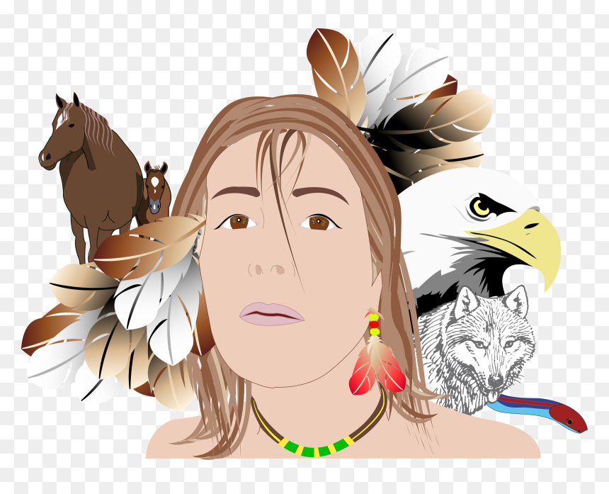 Indian Girl Person Woman Face Cheval Eagle Bald Eagle Clipart Hd Png Download Vhv