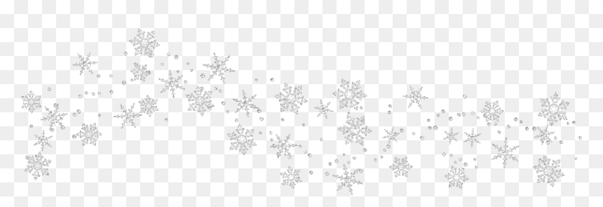 Snow Falling Clip Art Black and White