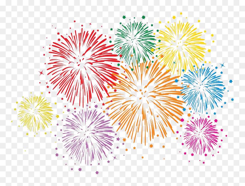 Animated Fireworks Transparent Image Fireworks Clipart Hd Png Download Vhv