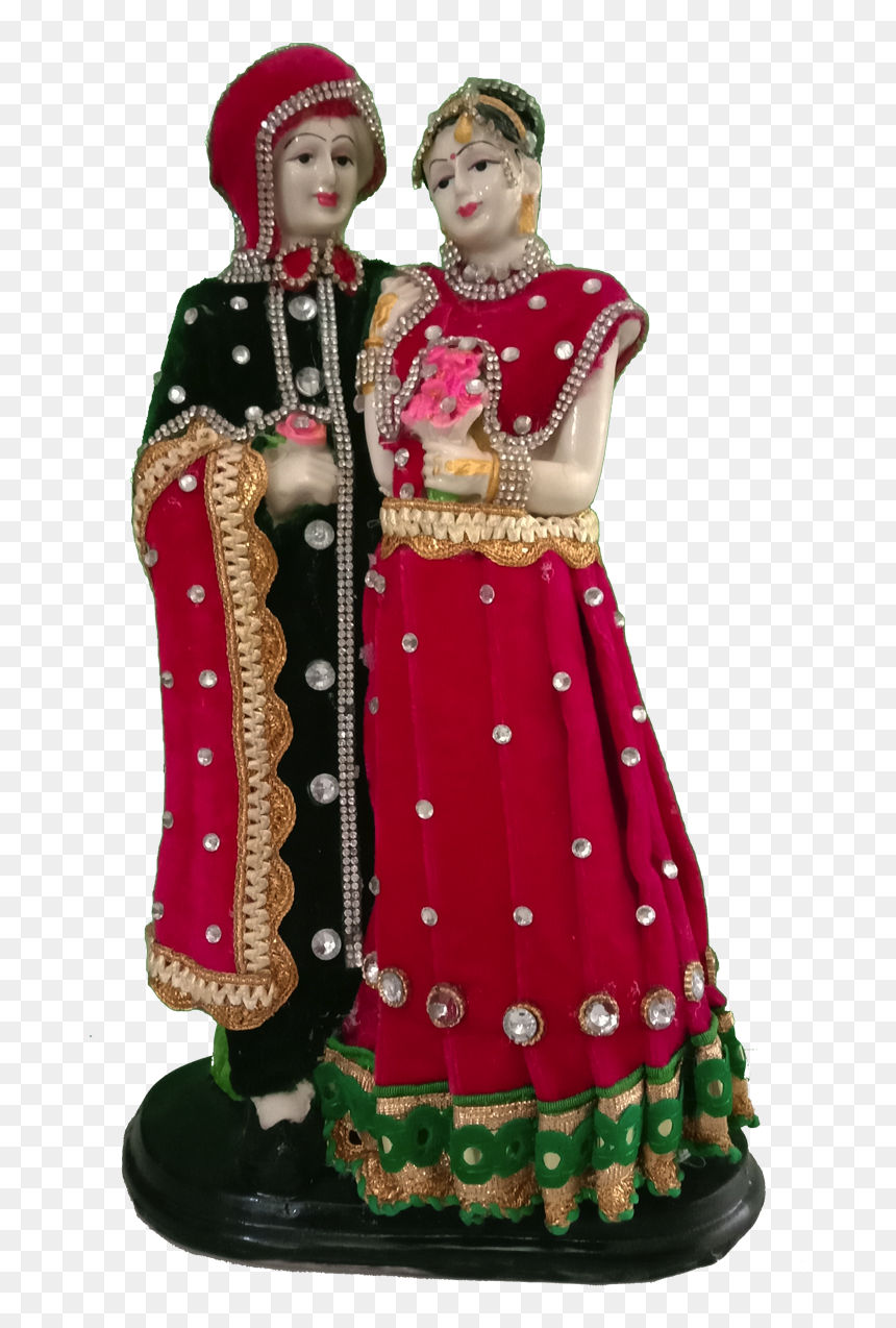 Bride N Groom Couple Figurine Newly Married Couple Figurine Hd Png Download Vhv