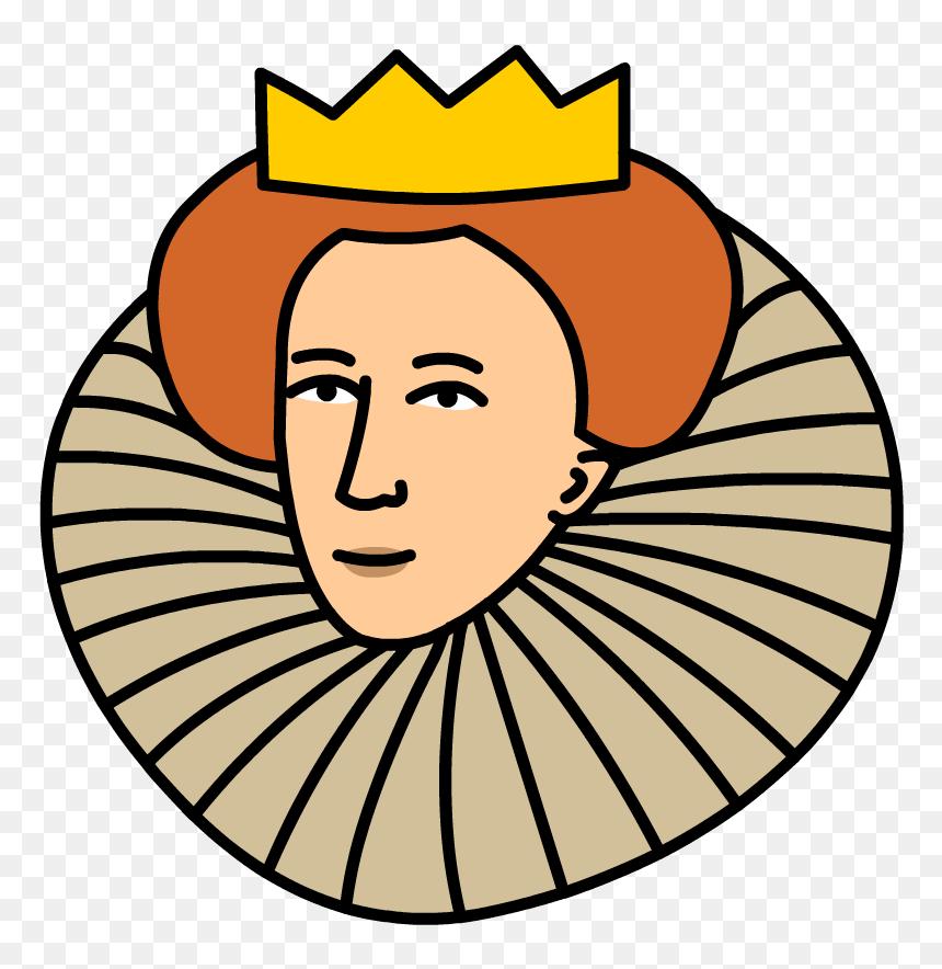 Queen Clipart Head Queen Elizabeth I Cartoon Hd Png Download Vhv