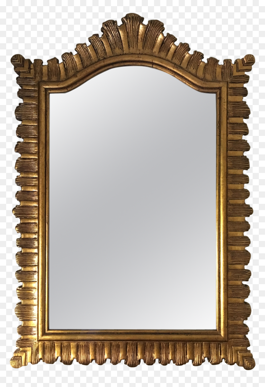 Gold Leaner Mirror Framed Pink Wall Sets Small Rectangle Wall Mirror Clipart Hd Png Download Vhv