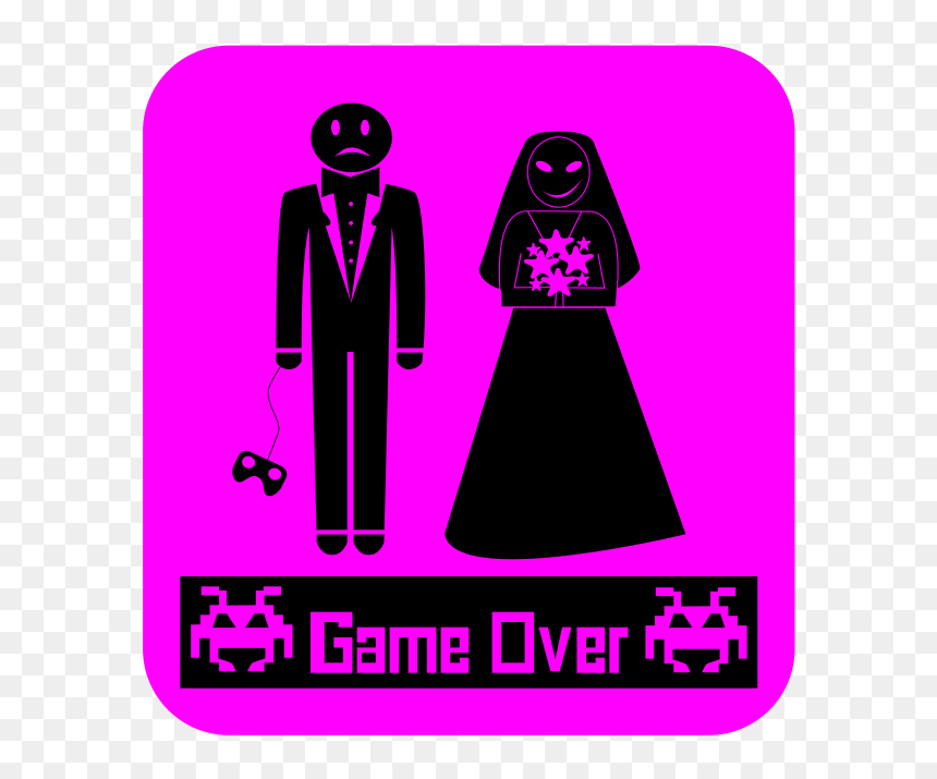 Game Over Boda Svg Clip Arts Game Over Wedding Hd Png Download Vhv