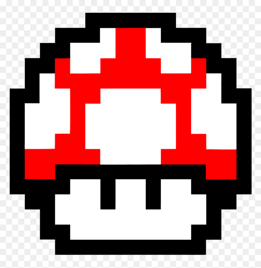 8 Bit Mario Mushroom Png Transparent Png Vhv