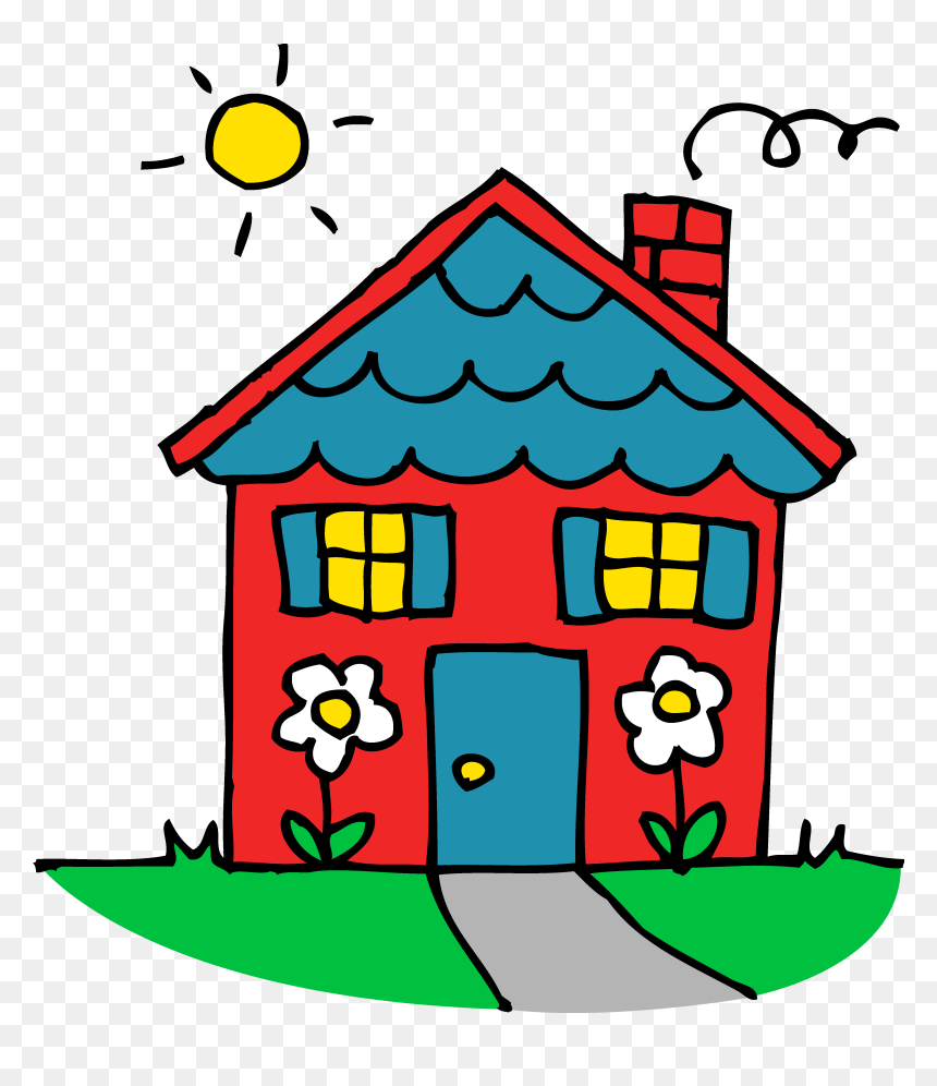 Damaged House Clipart Clip Art Free Damaged House Kids With Home Cartoon Hd Png Download Vhv