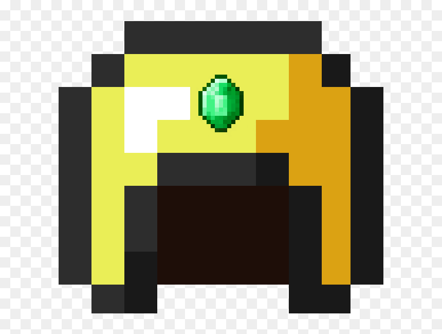 Gold Helmet Minecraft Png Download Small Yin Yang Pixel Art