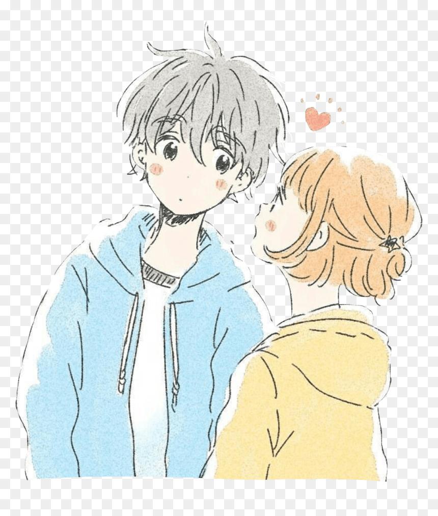 Hd Cuteanime Anime Kawaii Animecouple Couple Cute Pastelco Kawaii Cute Anime Couple Hd Png Download Vhv