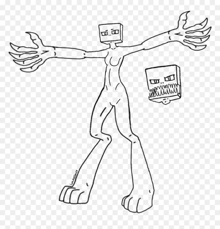 Minecraft Enderman Drawing At Getdrawings Enderman Drawing Base Hd Png Download Vhv