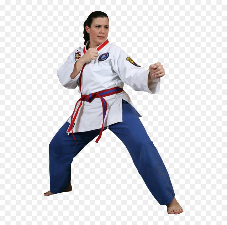 Woman In A Martial Arts Stance Png Martial Arts Stance Transparent Png Vhv