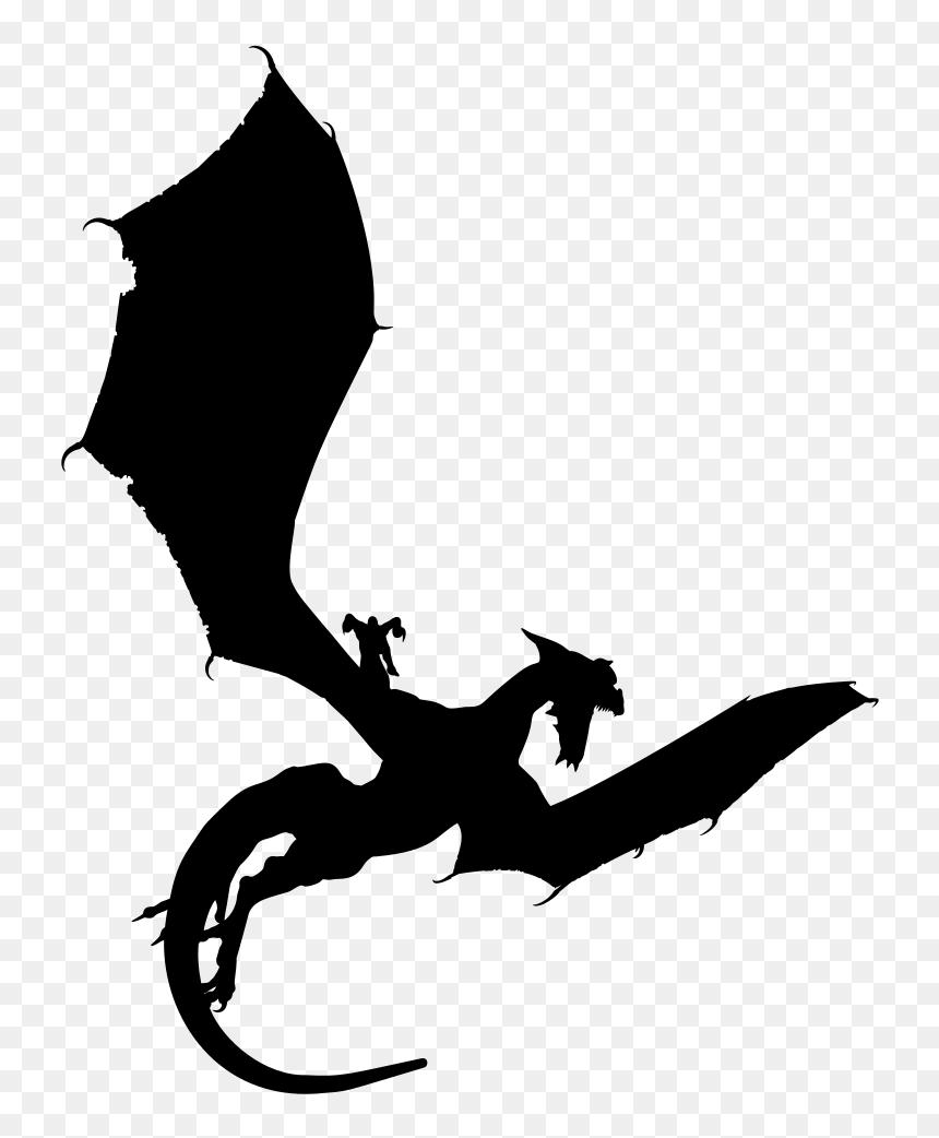 Onlinelabels Clip Art Dragon Silhouette Transparent Background Hd Png Download Vhv