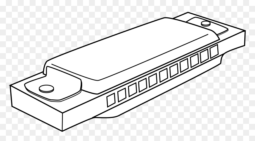 Coloring Page Free Clip Clip Art Harmonica Hd Png Download Vhv