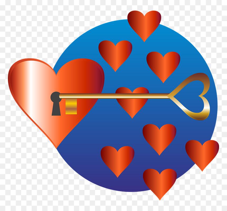مفتاح مع قلب كرتون Hd Png Download Vhv