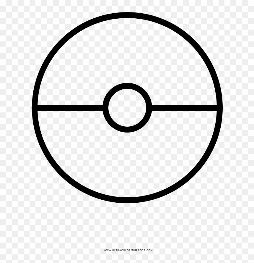 Fortune Pokeball Coloring Pages Page - Printable Pokemon Ball Coloring Page,  HD Png Download - Vhv