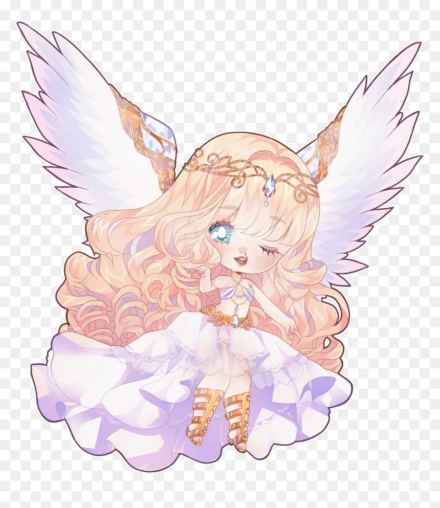 Anime Angel Chibi Kawaii Hd Png Download Vhv