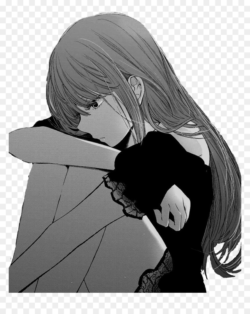 Transparent Crying Anime Girl Png - Sad Anime Girl Crying, Png