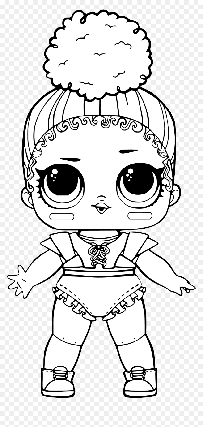 L - O - L - Surprise Doll Png - Lol Doll Coloring Pages Touchdown,  Transparent Png - vhv