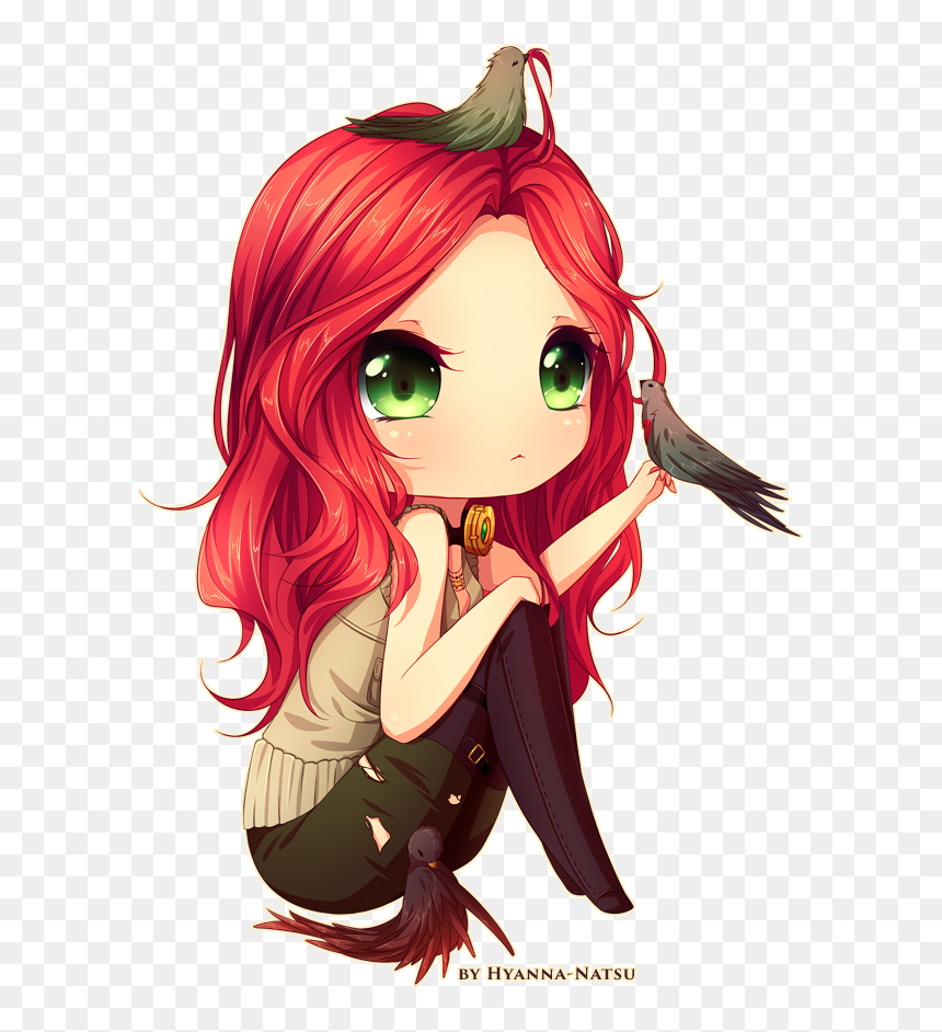 Sketch Chibi Commission For Lindyrex After Having Some - Red Hair