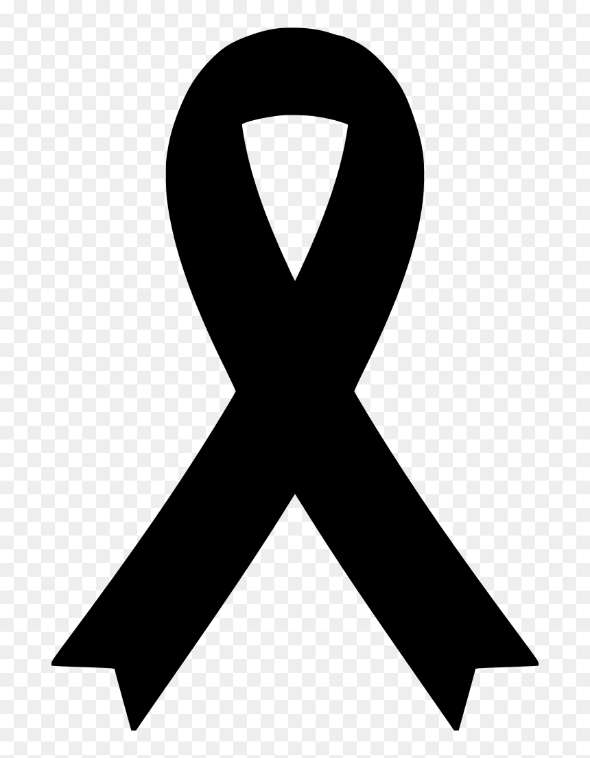 Download Png Black Awareness Ribbon Svg Black Cancer Ribbon Svg Transparent Png Vhv