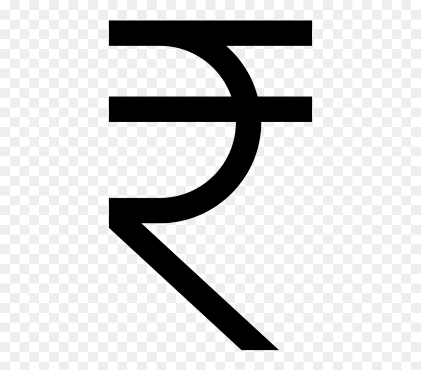 Indian Rupee Sign Currency Symbol - Indian Rupee Symbol Png, Transparent  Png - vhv