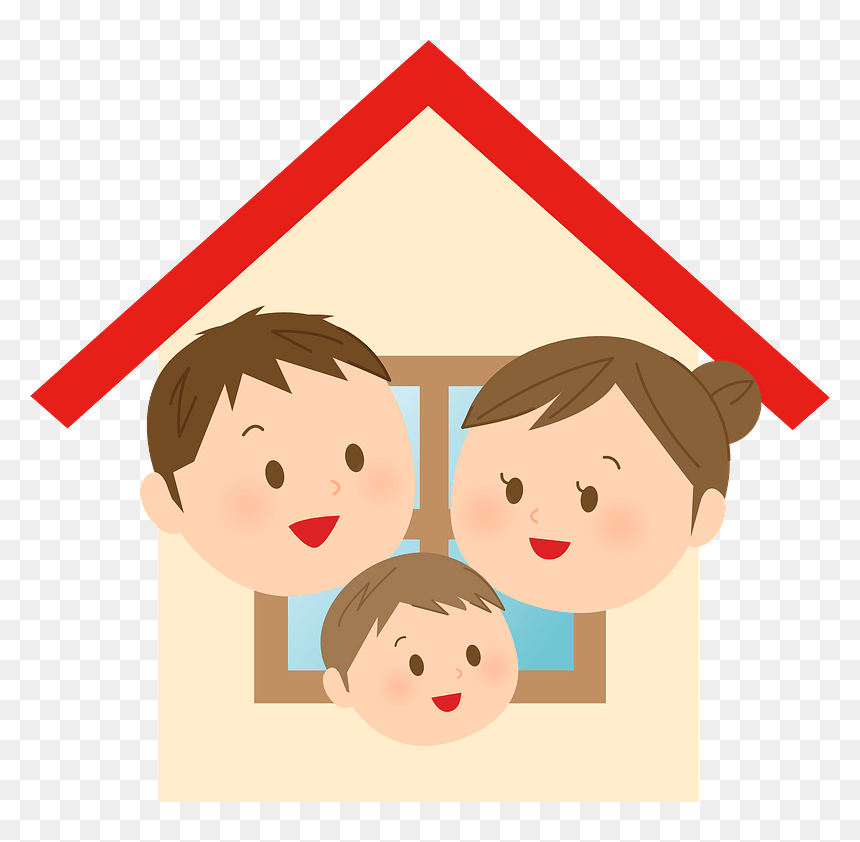 House Home Family Clipart Cartoon Hd Png Download Vhv