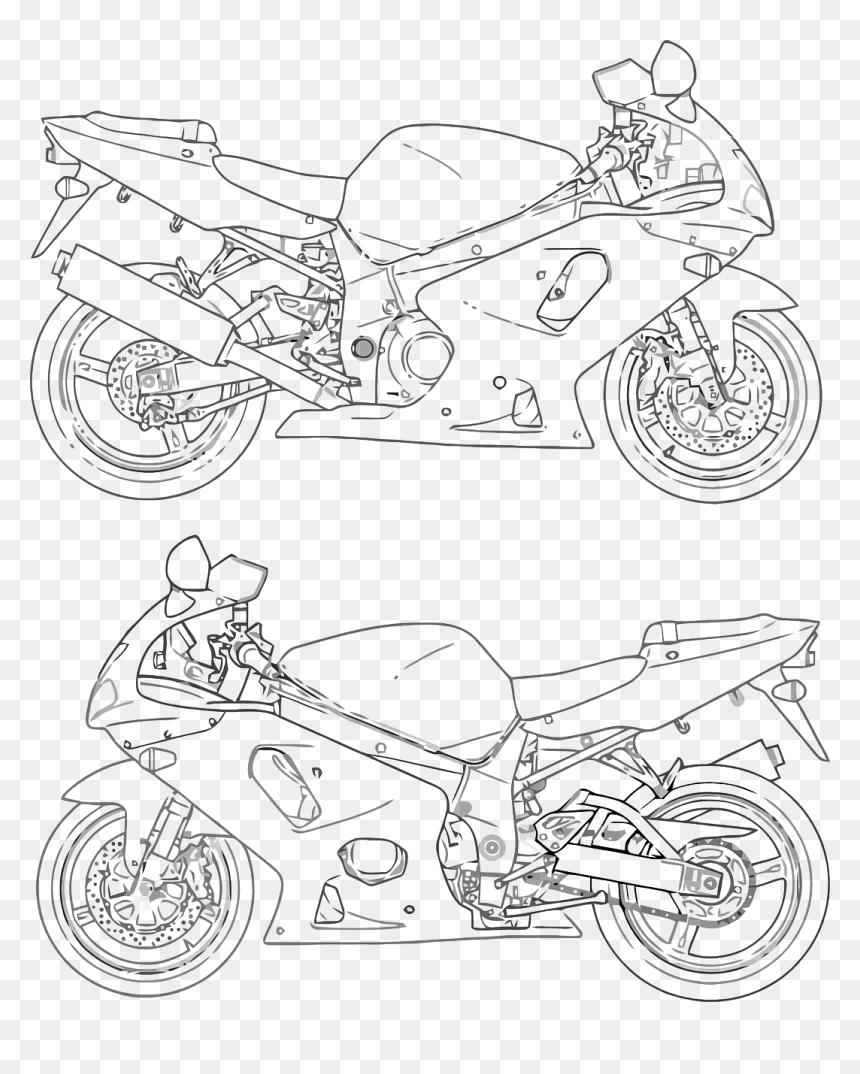 Motorcycle Racing Bike Drawing Hd Png Download Vhv