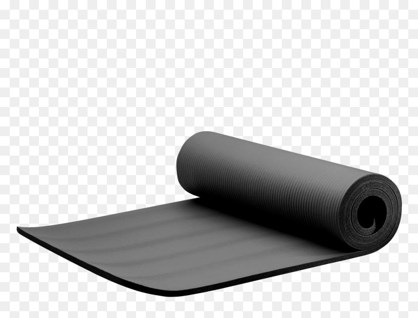 Extra Thick Exercise Yoga Mat With Carry Strap Yoga Matt Clipart Transparent Background Hd Png Download Vhv