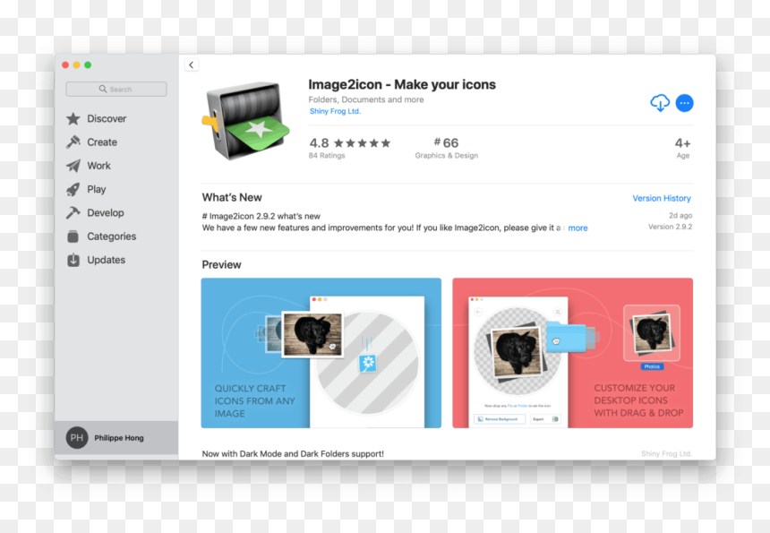 Image2icon By Mac App Store From Uigarage Web App Store Ui Design Hd Png Download Vhv