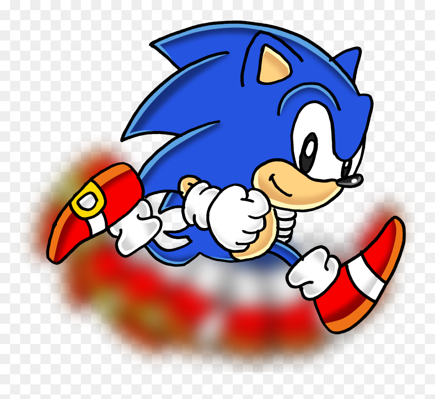 Sonic The Hedgehog Running Sonic The Hedgehog Classic Sonic Run Hd Png Download Vhv