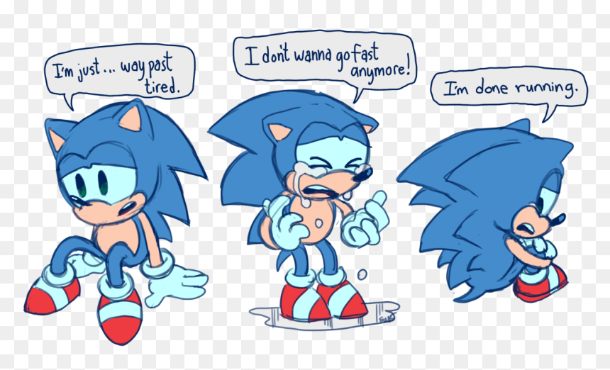 Sonic S Feeling Of Running Alot Running Classic Sonic The Hedgehog Hd Png Download Vhv