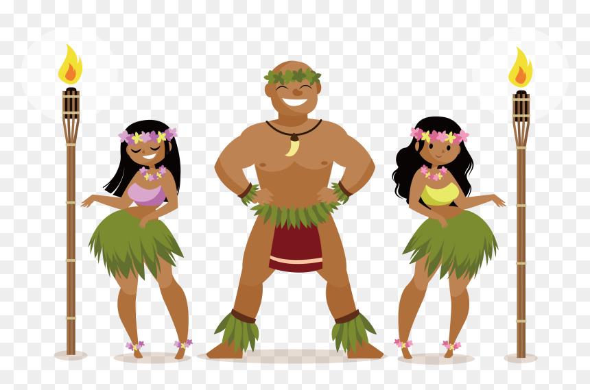 Hawaii Clipart Hula Dancer Hawaii Hula Dancer Transparent Hawaiian Costume Art Clip Hd Png Download Vhv