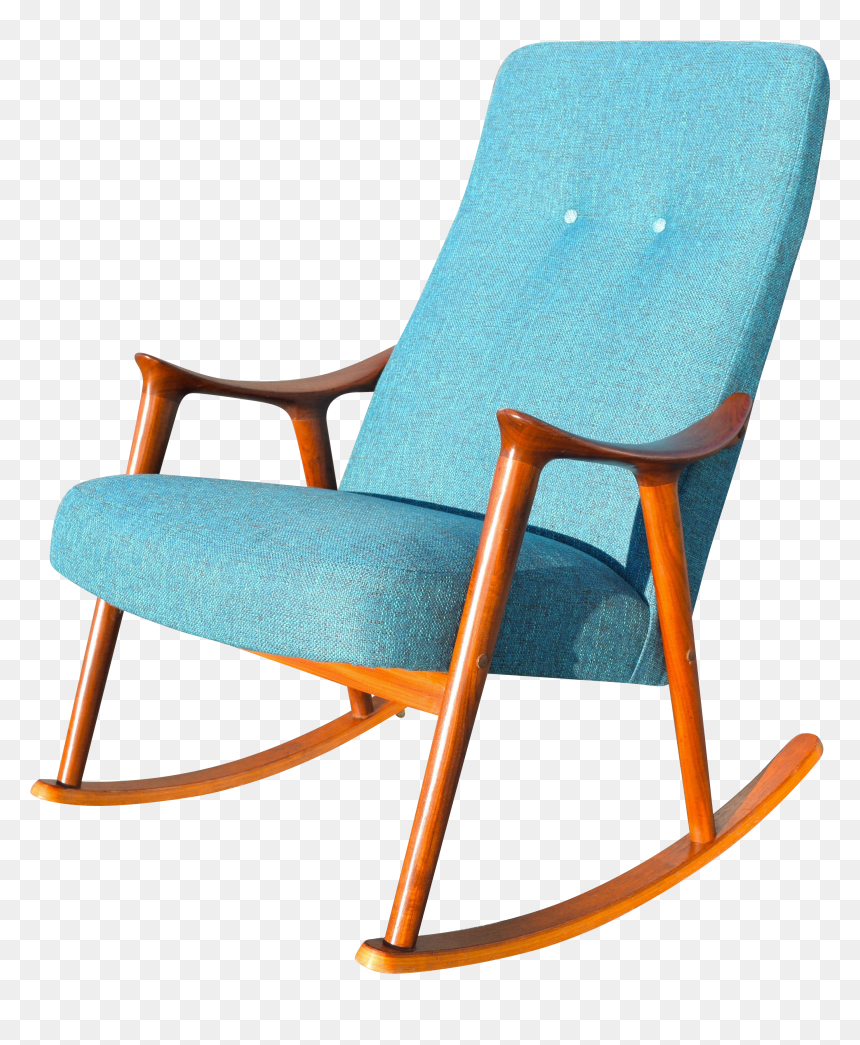 Image of: Vintage Danish Modern Rocking Chair By Rastad Relling Rocking Chair Png Transparent Png Vhv