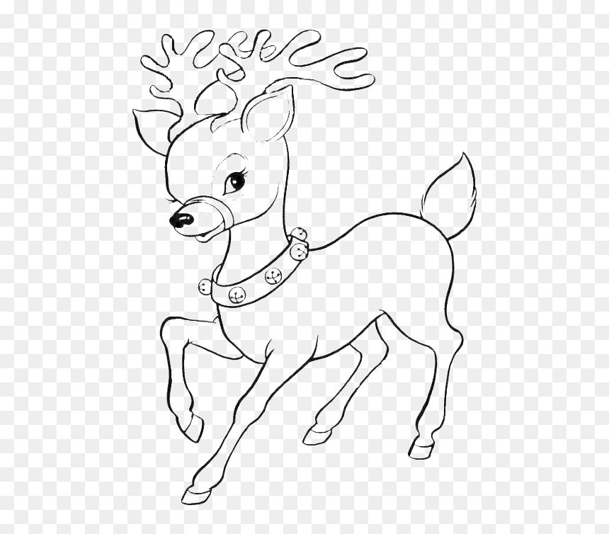 Reindeer Rudolph Coloring Book Santa Claus Christmas Cute Santa Coloring Pages Hd Png Download Vhv