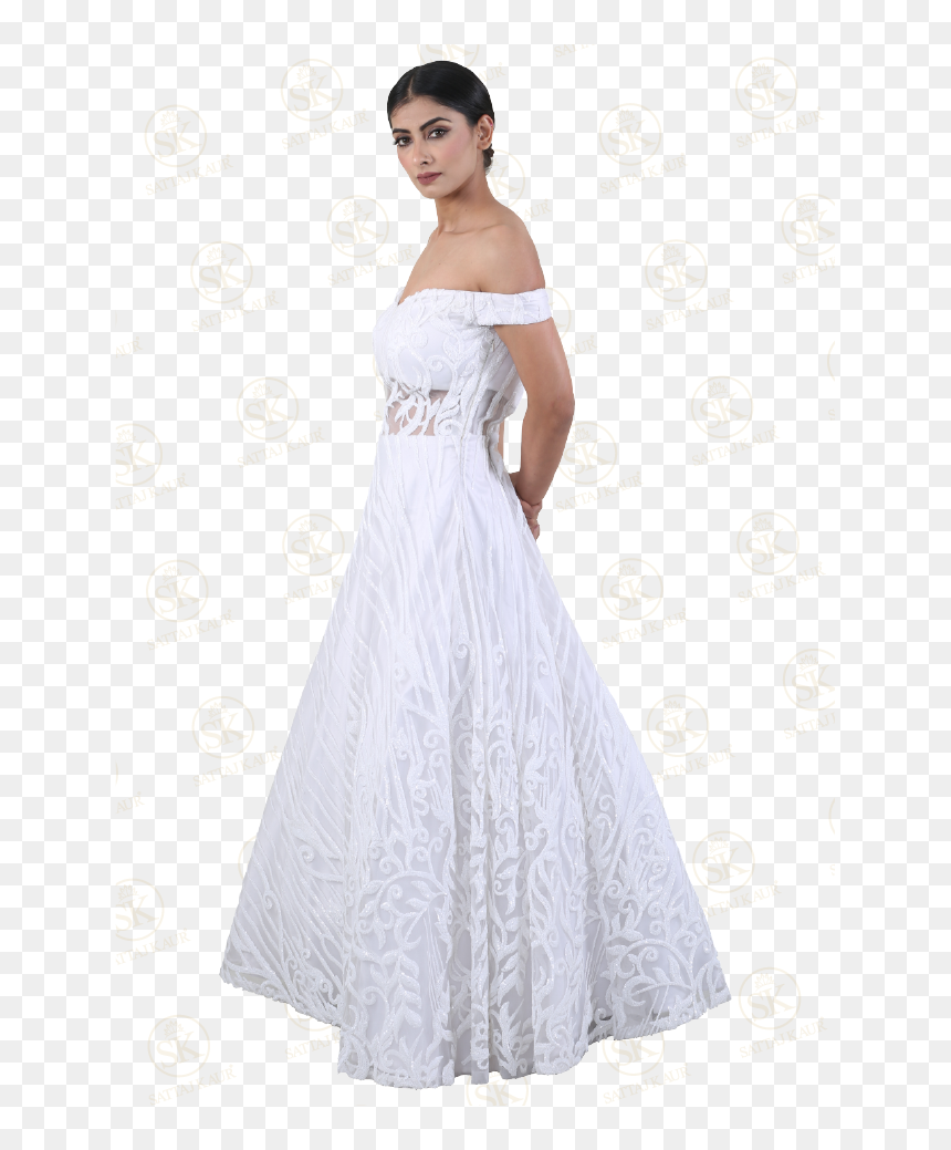 A Line Silhouette Bridal Dress Gown Hd Png Download Vhv